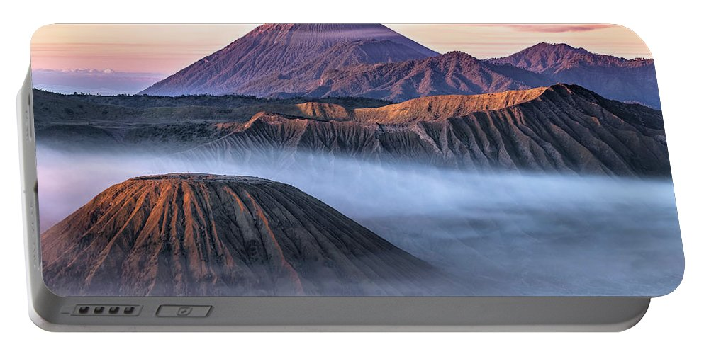 Bromo Tengger Semeru National Park Portable Battery Charger featuring the photograph Mount Bromo - Java by Joana Kruse