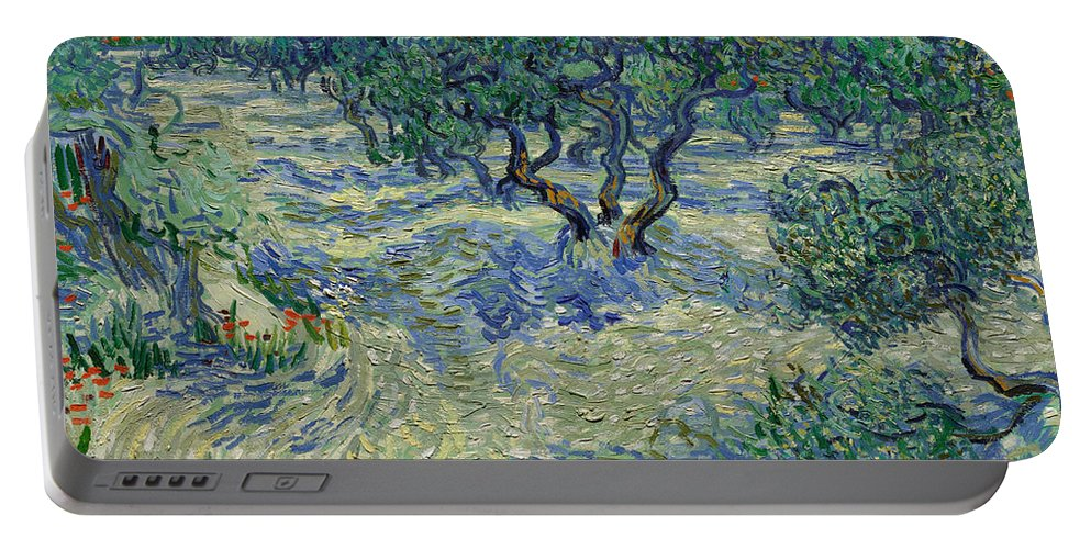 Dutch Portable Battery Charger featuring the painting Olive Orchard by Vincent van Gogh