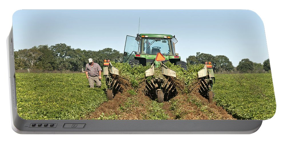 Peanut Harvest Portable Battery Charger featuring the photograph Peanut Harvest by Inga Spence