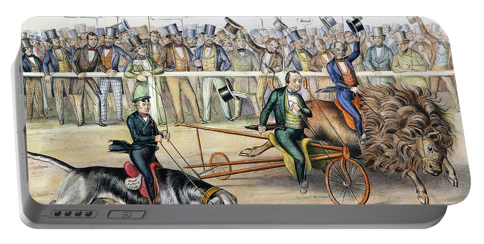 1848 Portable Battery Charger featuring the photograph Presidential Campaign by Granger