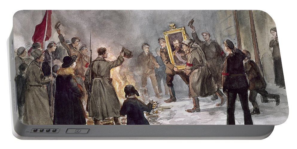1917 Portable Battery Charger featuring the photograph Russian Revolution, 1917 by Granger