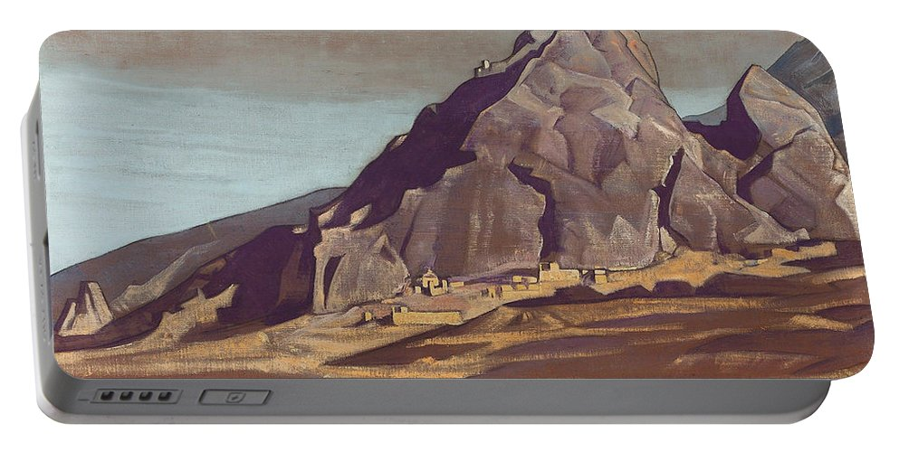 Country Portable Battery Charger featuring the painting Sanctuaries And Citadels by Nicholas Roerich