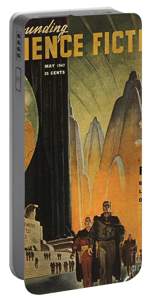 1947 Portable Battery Charger featuring the photograph Science Fiction Magazine by Granger