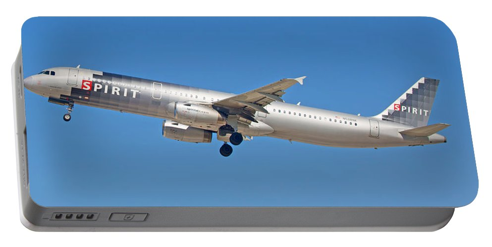 Spirit Portable Battery Charger featuring the photograph Spirit Airline by Dart and Suze Humeston