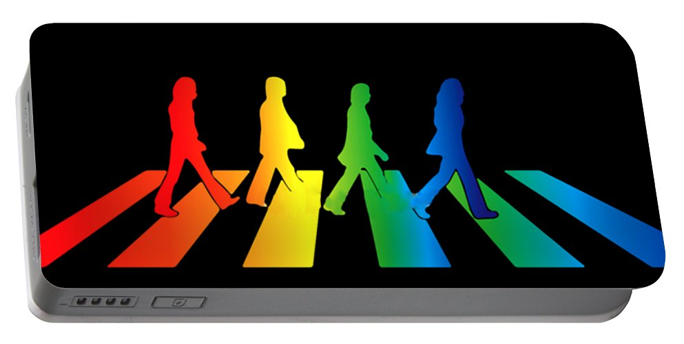 The Beatles Portable Battery Charger featuring the digital art The Beatles by Jofi Trazia