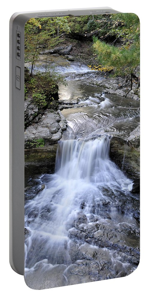 Water Portable Battery Charger featuring the photograph Waterfall by David Arment