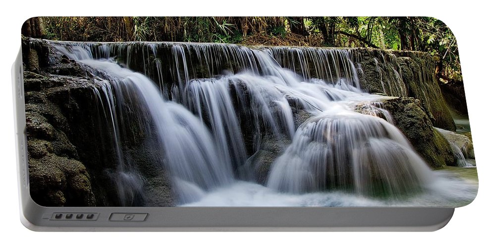 Cascade Portable Battery Charger featuring the photograph Waterfalls by Jbiub IbiblJB
