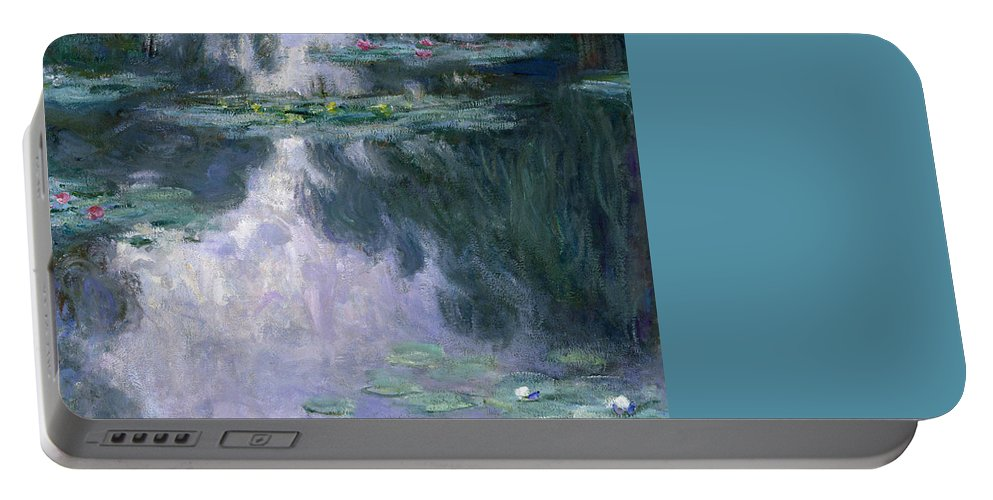 Nympheas Portable Battery Charger featuring the painting Waterlilies 24 by Claude Monet