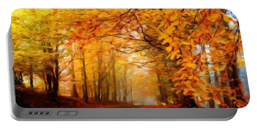 Native Portable Battery Charger featuring the digital art Landscape Artwork by Malinda Spaulding