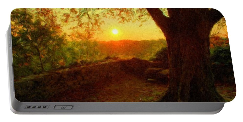 P Portable Battery Charger featuring the digital art Nature In by Malinda Spaulding