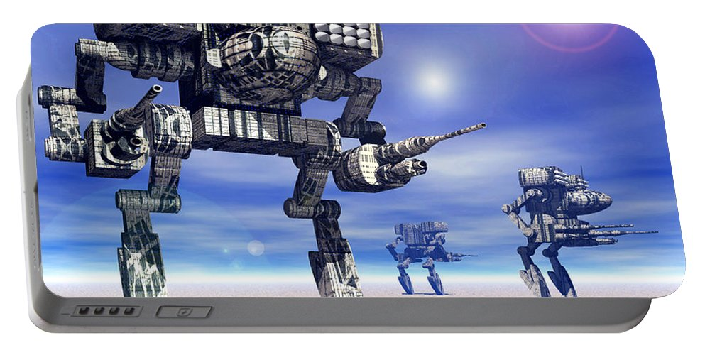 Science Fiction Portable Battery Charger featuring the digital art 501st Mech Trinary by Curtiss Shaffer