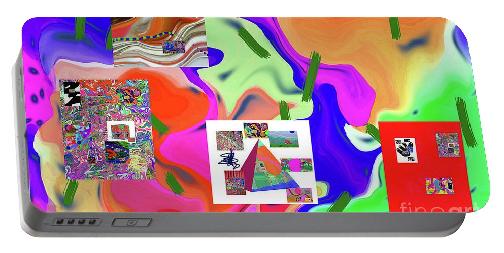 Walter Paul Bebirian Portable Battery Charger featuring the digital art 6-19-2015dabcdefghijklmnopqrtuvwxyzabcdef by Walter Paul Bebirian