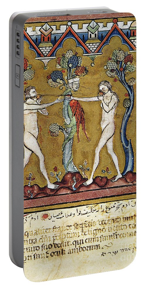1250s Portable Battery Charger featuring the photograph Adam And Eve by Granger