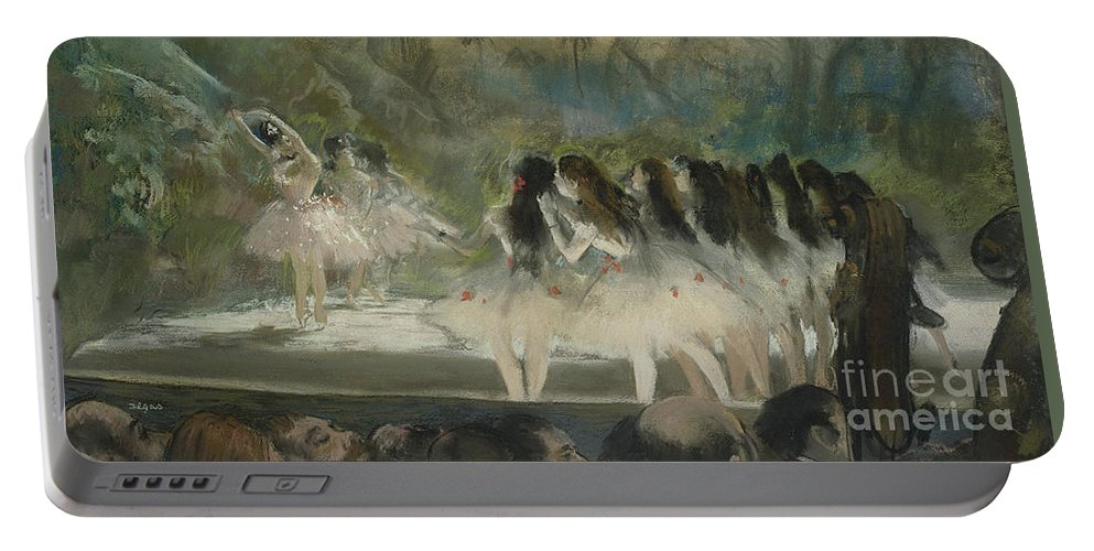 Ballet Portable Battery Charger featuring the pastel Ballet At The Paris Opera by Edgar Degas
