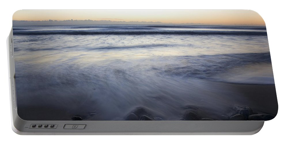 Travel Portable Battery Charger featuring the photograph Ballynaclash Beach At Dawn by Ian Middleton