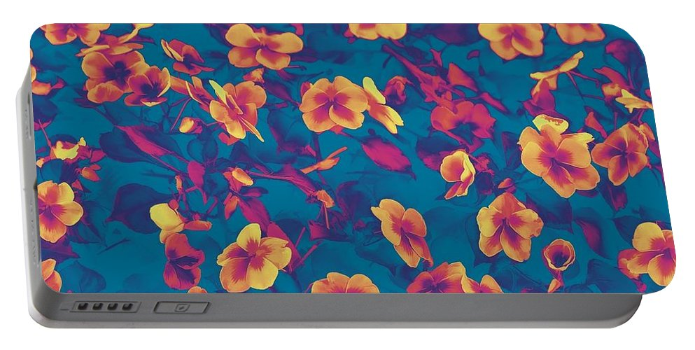Floral Portable Battery Charger featuring the photograph Happy by Joyce Baldassarre