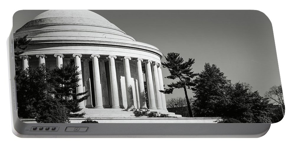Stone Portable Battery Charger featuring the photograph Jefferson Memorial In Washington Dc by Brandon Bourdages