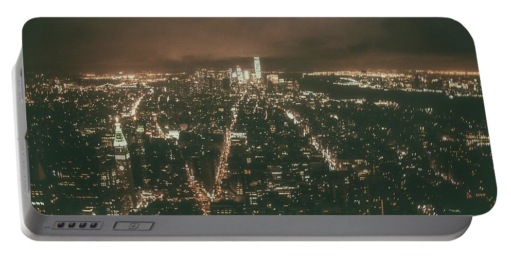 City Portable Battery Charger featuring the photograph New York Skyline by Martin Newman