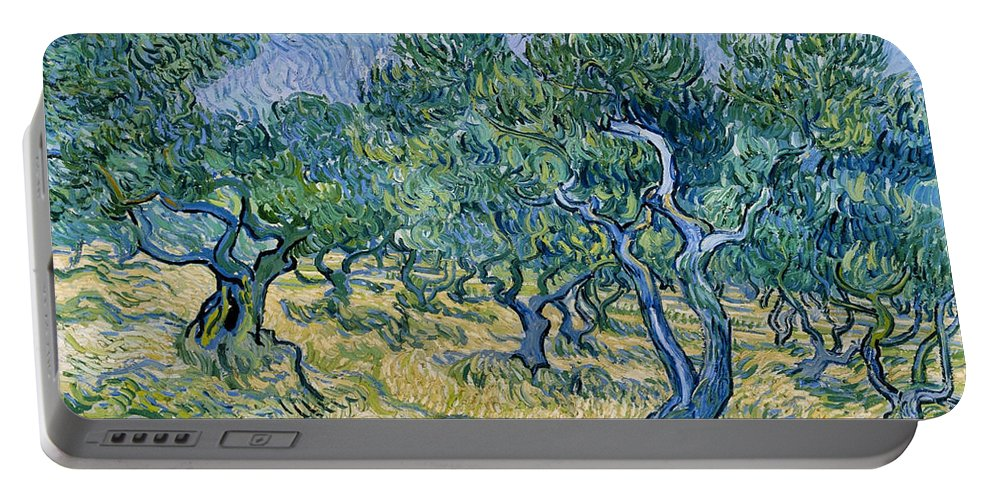 Dutch Portable Battery Charger featuring the painting Olive Grove by Vincent van Gogh