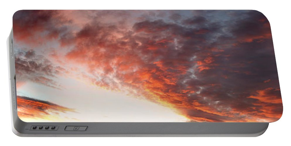 Clouds Portable Battery Charger featuring the photograph Summer Sky by Les Cunliffe