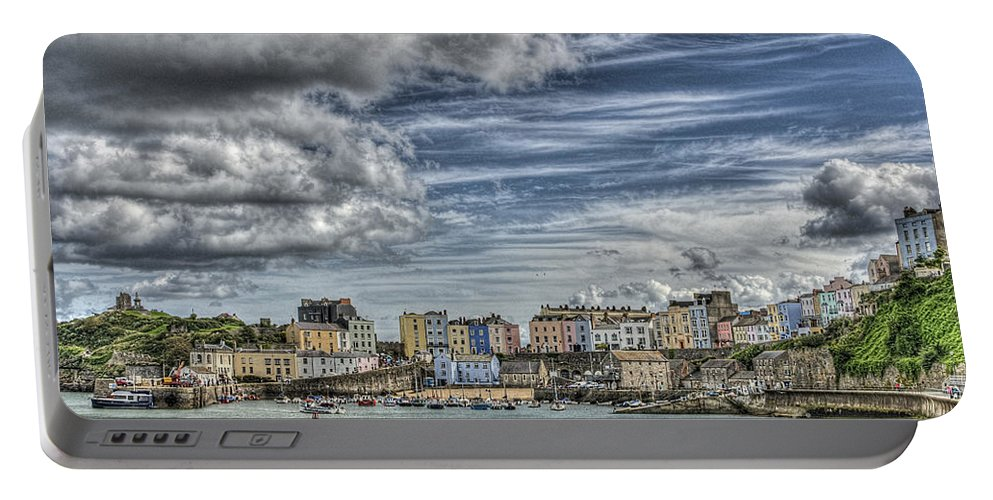 Tenby Portable Battery Charger featuring the photograph Tenby Harbour by Steve Purnell