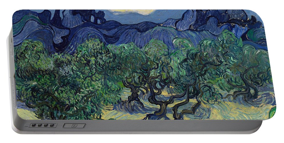 Clouds Portable Battery Charger featuring the painting The Olive Trees by Vincent van Gogh