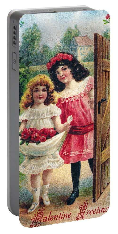 1908 Portable Battery Charger featuring the photograph Valentines Day Card by Granger