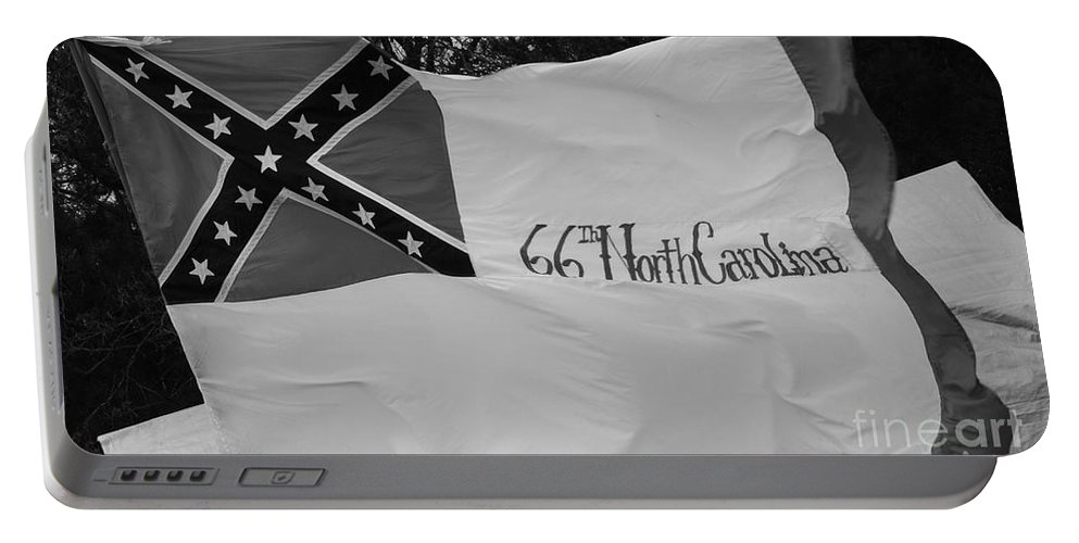 Civil War Portable Battery Charger featuring the photograph 66th North Carolina by Tommy Anderson