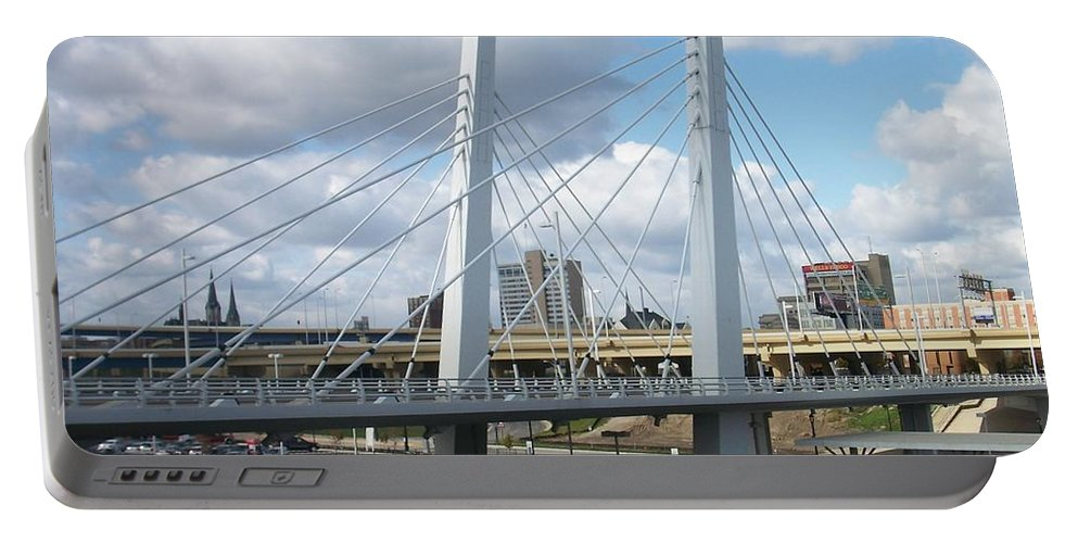 Bridge Portable Battery Charger featuring the photograph 6th Street Bridge by Anita Burgermeister