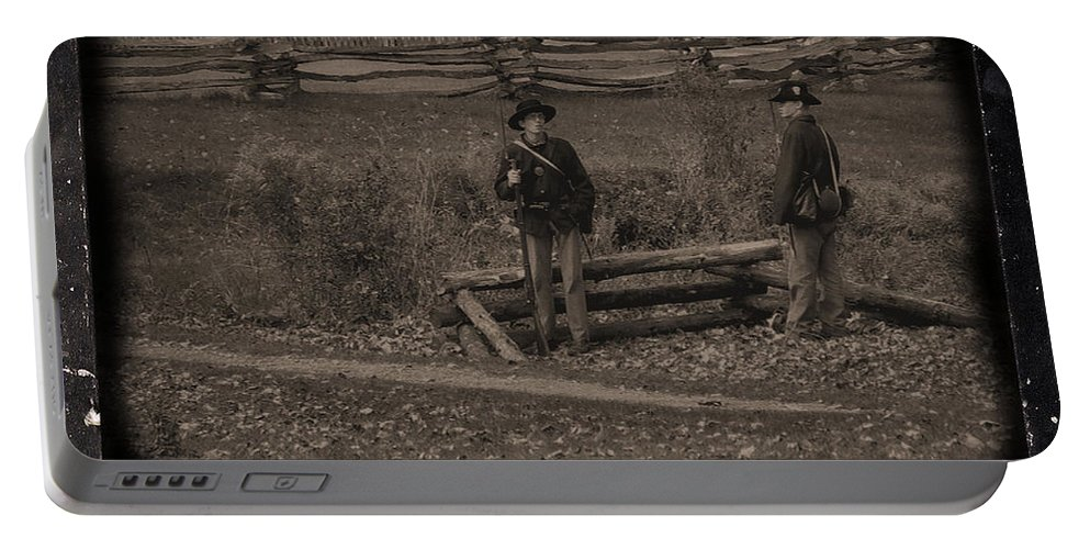 Coon Valley Portable Battery Charger featuring the photograph 6th Wisconsin Pickets by Tommy Anderson