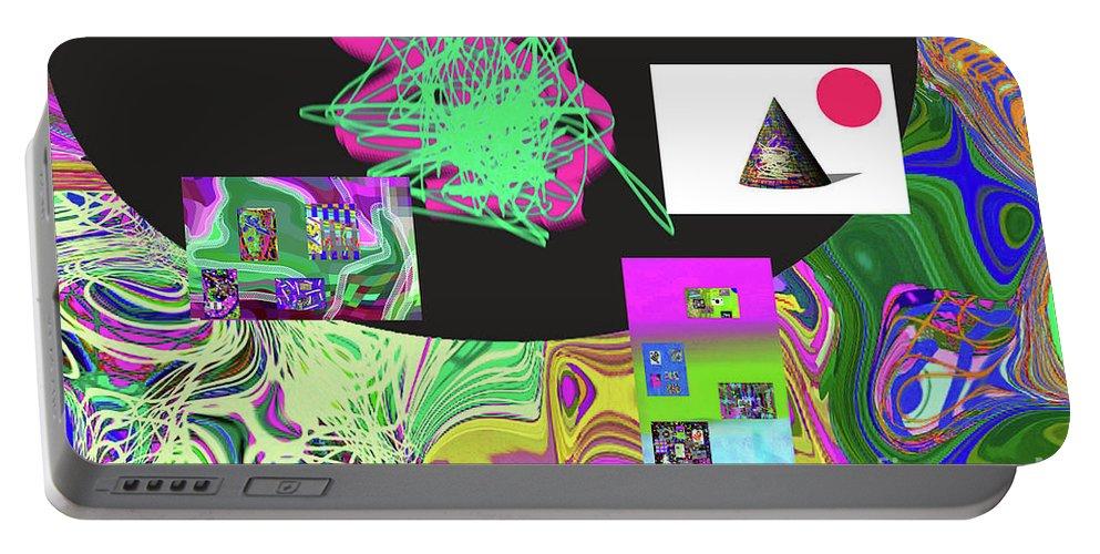 Walter Paul Bebirian Portable Battery Charger featuring the digital art 7-20-2015gabc by Walter Paul Bebirian