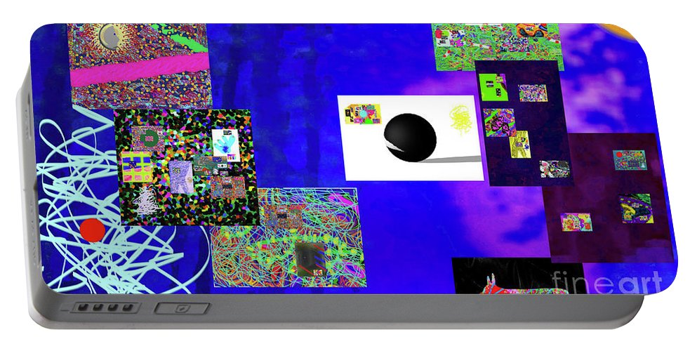 Walter Paul Bebirian Portable Battery Charger featuring the digital art 7-30-2015fabcdefghijklmnopqrtuvwxyza by Walter Paul Bebirian