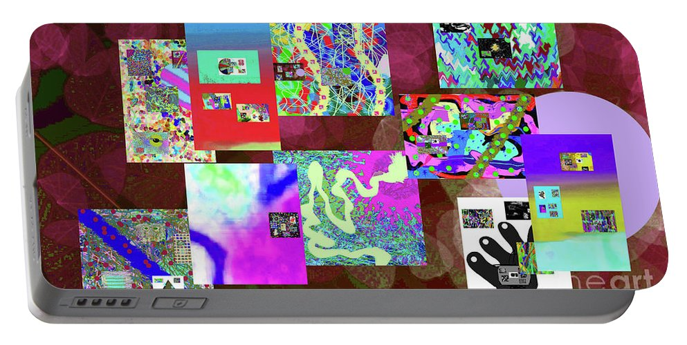 Walter Paul Bebirian Portable Battery Charger featuring the digital art 7-5-2015dabcdef by Walter Paul Bebirian