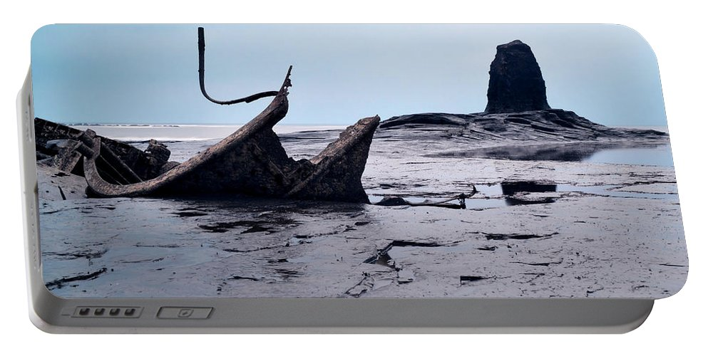 The Iconic Ship Wreck Portable Battery Charger featuring the photograph Admiral Von Tromp At Black Nab by Sarah Couzens