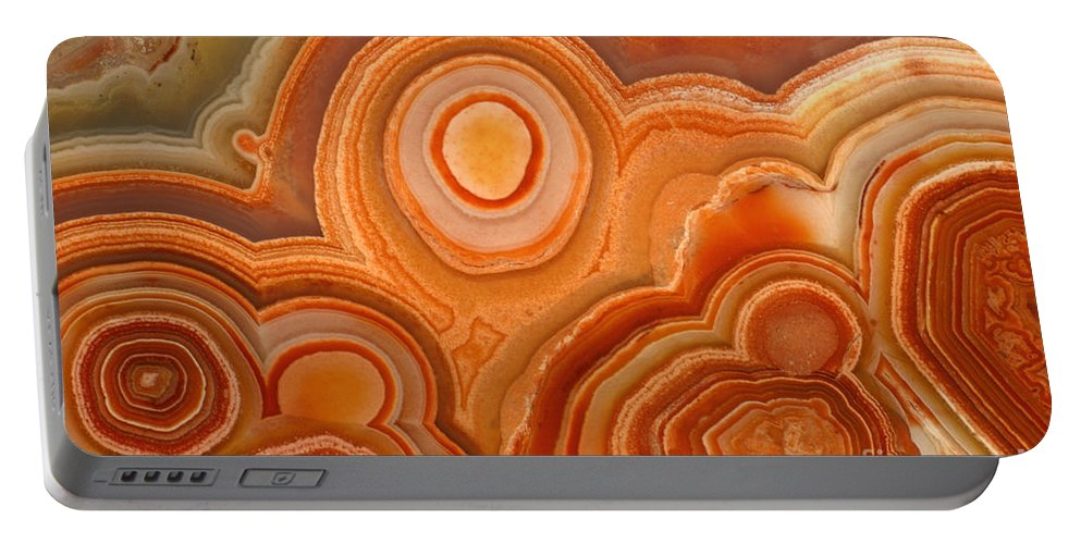 Agate Portable Battery Charger featuring the photograph Agate by Ted Kinsman