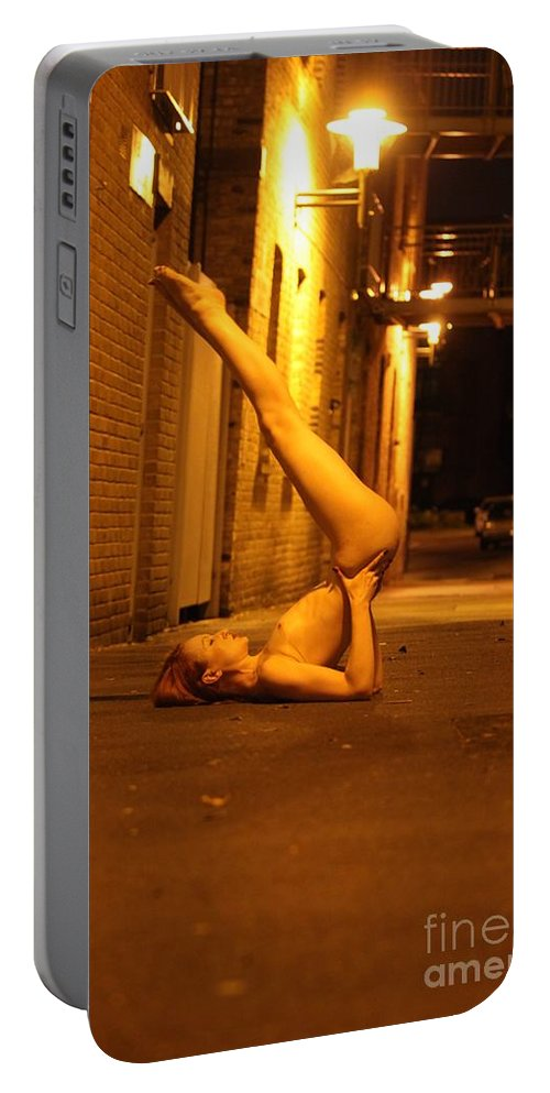 Fine Art Nude Portable Battery Charger featuring the photograph Anita De Bauch by Nocturnal Girls