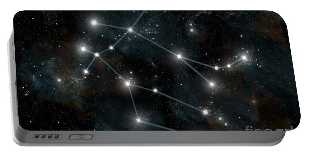 Astrology Portable Battery Charger featuring the digital art Artists Depiction Of The Constellation by Marc Ward