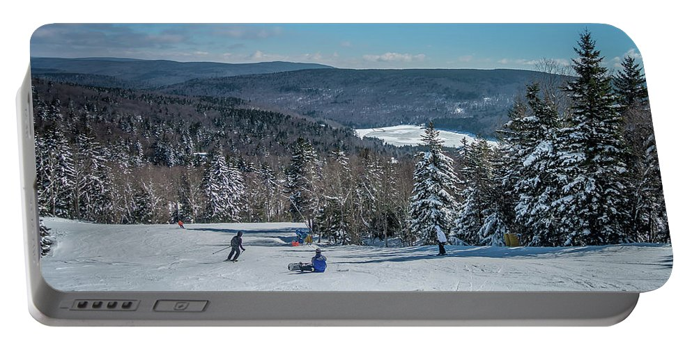 Cass Portable Battery Charger featuring the photograph Beautiful Nature And Scenery Around Snowshoe Ski Resort In Cass by Alex Grichenko