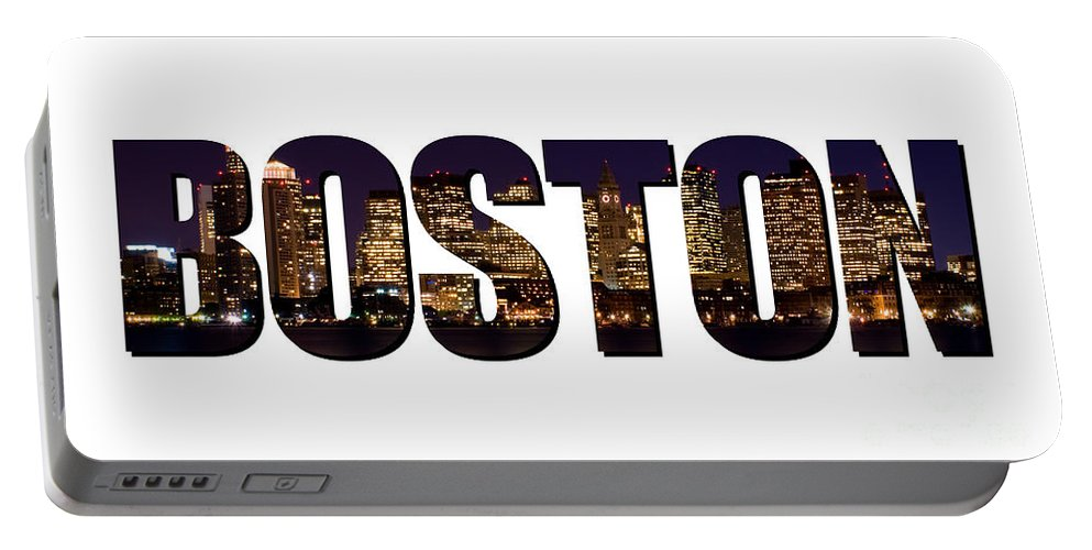 Boston Portable Battery Charger featuring the photograph Boston Massachusetts by Anthony Totah