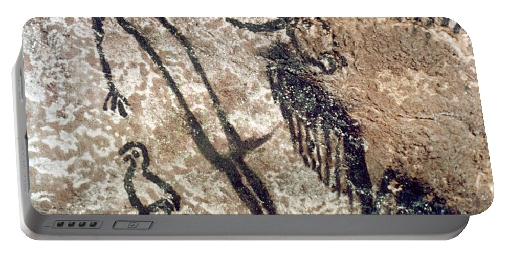 15000 Portable Battery Charger featuring the photograph Cave Art: Lascaux by Granger