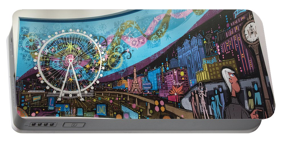 Las Vegas Portable Battery Charger featuring the photograph High Roller - Las Vegas Nevada by Jon Berghoff