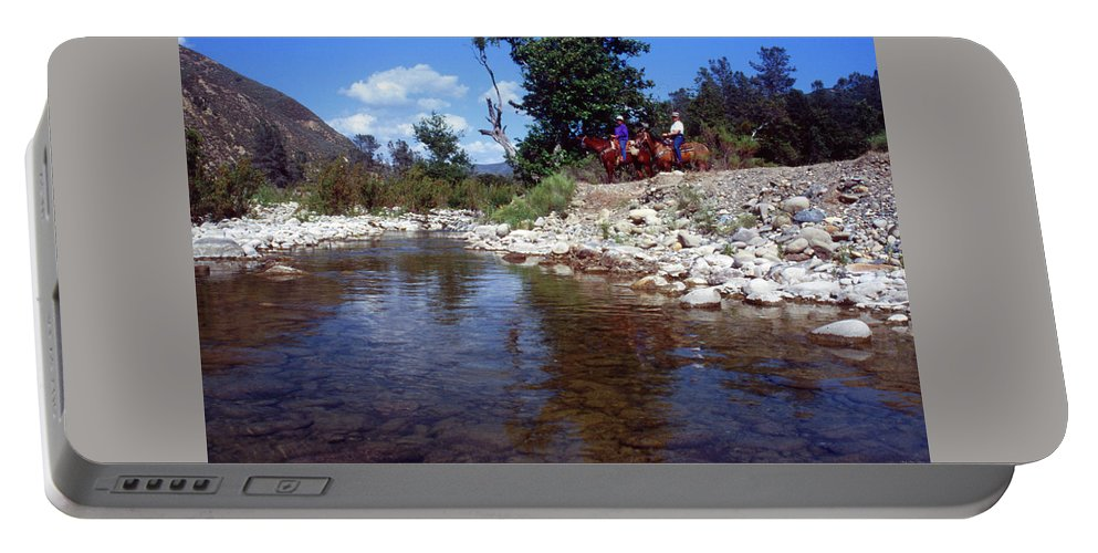 Lower Sisquoc River Portable Battery Charger featuring the photograph Lower Sisquoc River - San Rafael Wilderness by Soli Deo Gloria Wilderness And Wildlife Photography