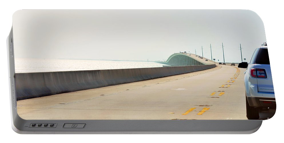 Key West Florida Portable Battery Charger featuring the photograph 7 Mile Bridge by Davids Digits