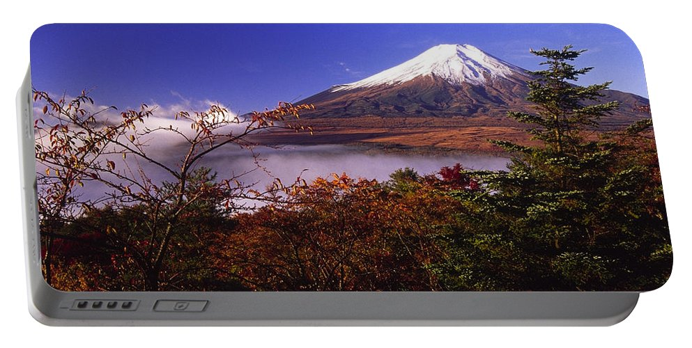 Japan Portable Battery Charger featuring the photograph Mount Fuji In Autumn by Michele Burgess