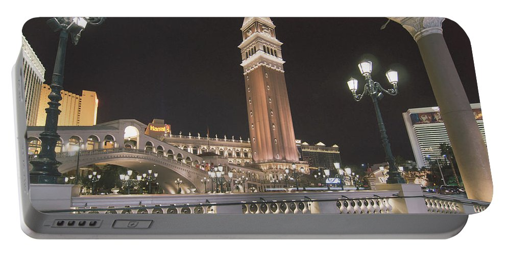 Casino Portable Battery Charger featuring the photograph November 2017, Las Vegas Nevada - Architecture And Buildings At by Alex Grichenko