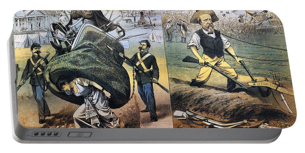 1880 Portable Battery Charger featuring the photograph Reconstruction Cartoon by Granger