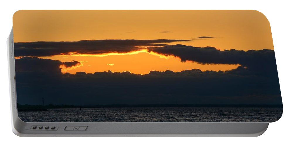 Sunset Portable Battery Charger featuring the photograph Sunset by Frank Morris