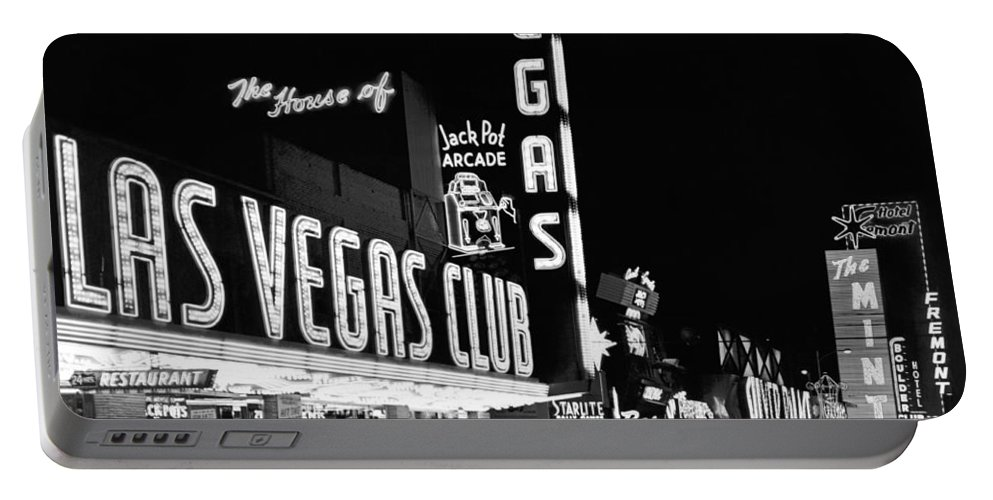 1950s Portable Battery Charger featuring the photograph The Las Vegas Strip by Underwood Archives