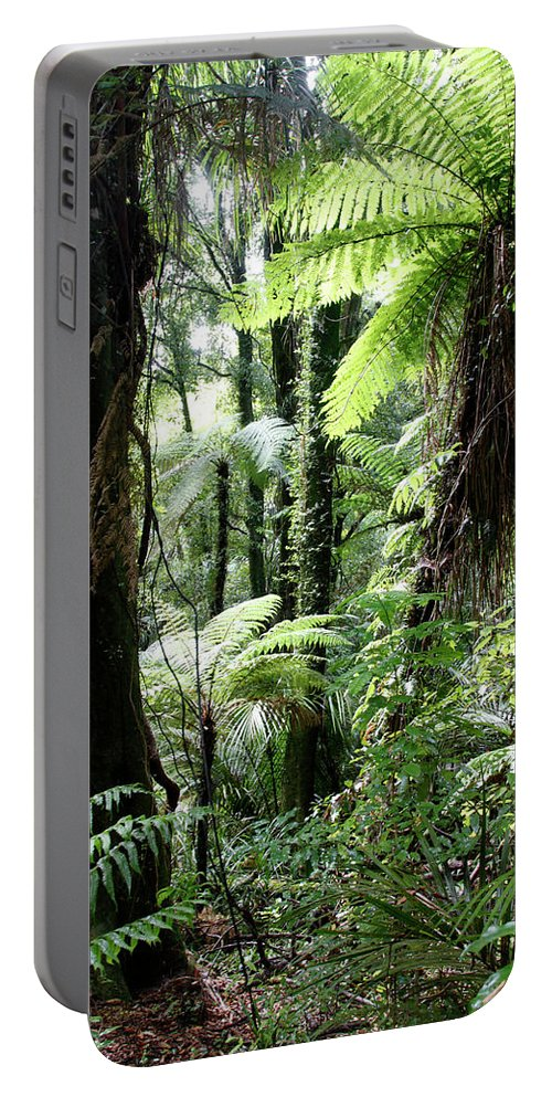 Rain Forest Portable Battery Charger featuring the photograph Tropical Jungle 2 by Les Cunliffe