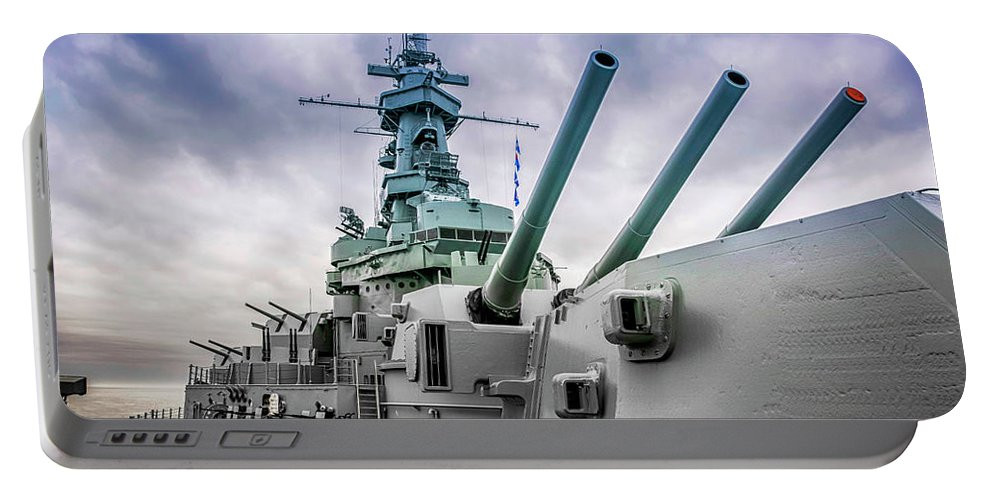 Uss Portable Battery Charger featuring the photograph Uss Alabama by Chris Smith
